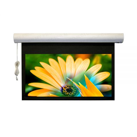 "DP Motorized/Electric Projection Screen 144"" x 144"" (Seamless)"