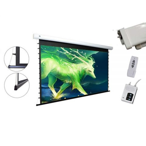 "Venova Tab-Tension Motorized Projection Screen 51.9"" x 92.4"" (106""D)"