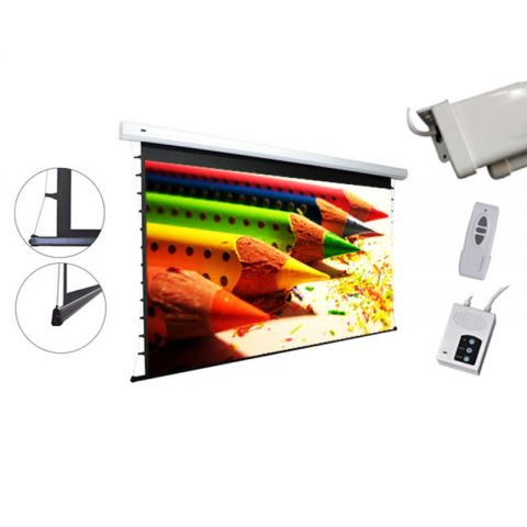 "Venova Tab-Tension Motorized Projection Screen 58.8"" x 104.6"" (120""D)"