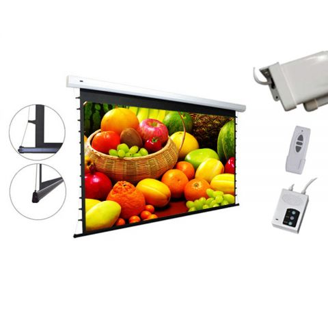"Venova Tab-Tension Motorized Projection Screen 65.2"" x 115.9"" (133""D)"